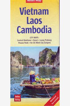 Tourist Map- Vietnam Laos Cambodia